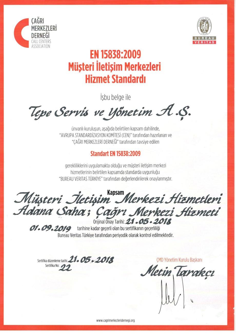 Adana Çağrı Merkezi EN15838