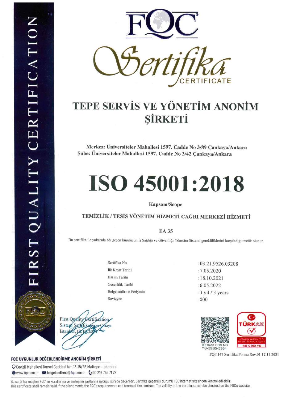 TEPE_SERVİS 45001